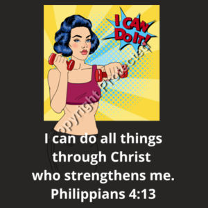 Sports Girl - Philippians 4:13  I can do all things through Christ who strengthens me. Design