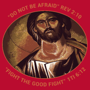 Pantocrator Do not be afraid, Fight the good fight Design